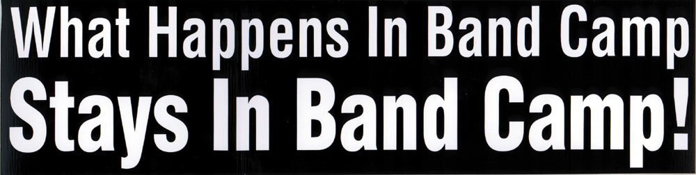 Music Treasures Band Camp Bumper Sticker