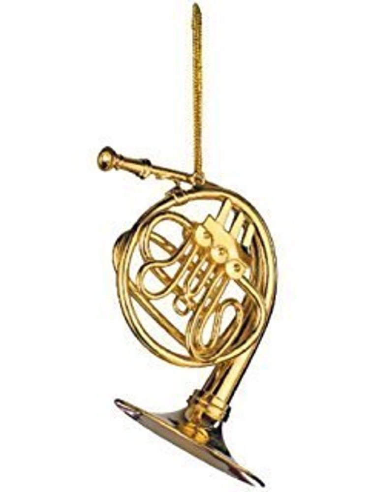 French Horn Ornament 2