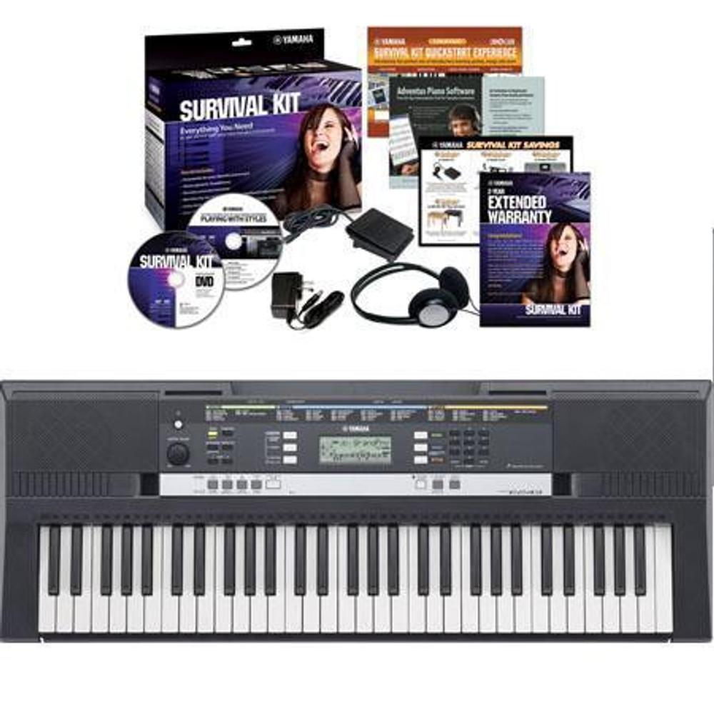 Yamaha Yamaha PSRE253KIT 61-Key Entry-Level Portable Keyboard w/ Survival Kit