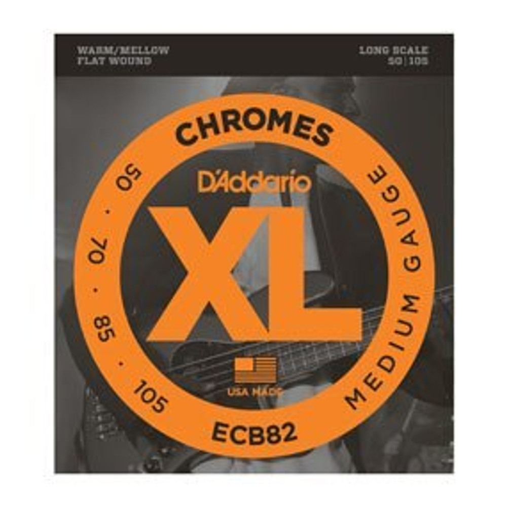 DAddario Daddario ECB82 Chromes Bass, Medium, 50-105, Long Scale