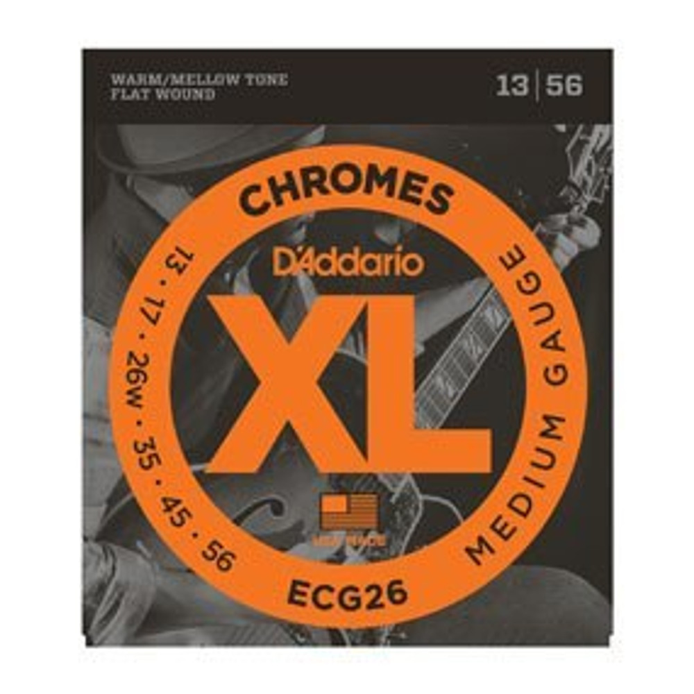 DAddario Daddario ECG26 Chromes Flat Wound, Medium, 13-56