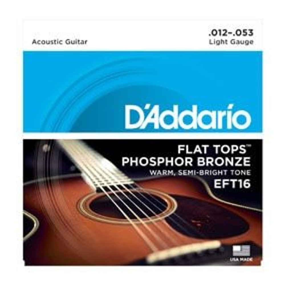 DAddario Daddario EFT16 Flat Tops, Light, 12-53