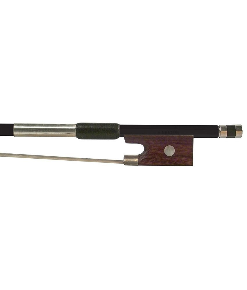 Anton Breton Anton Breton AB-110BK Brazilwood Student Violin Bow - 4/4 Size - Black