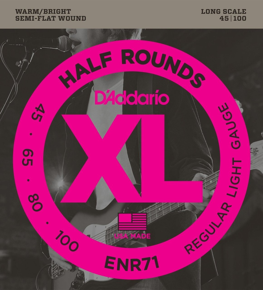 DAddario DAddario ENR71 Half Rounds Bass, Regular Light, 45-100, Long Scale
