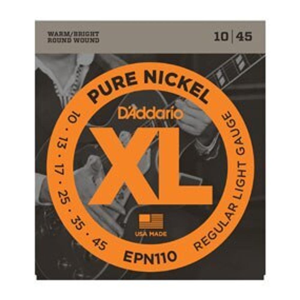 DAddario DAddario EPN110 Pure Nickel, Regular Light, 10-45 Electric Strings