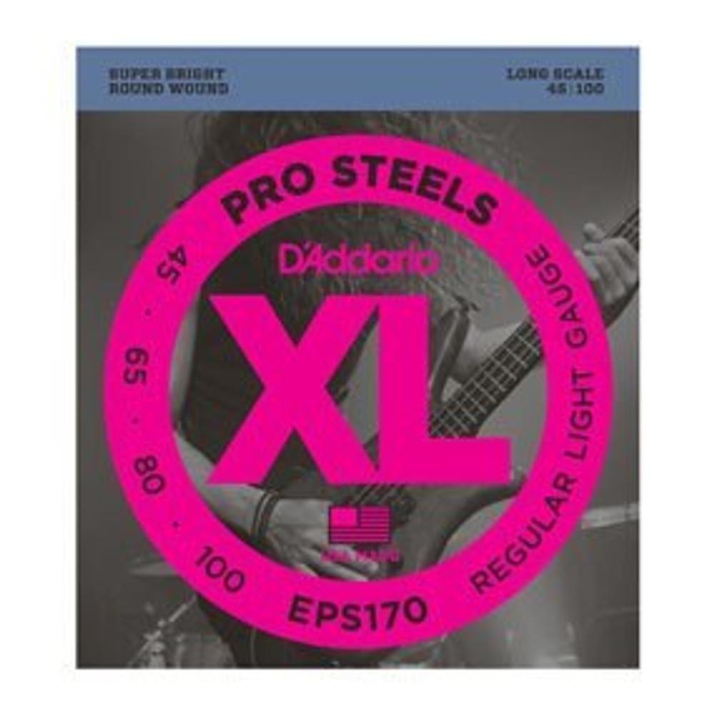 DAddario DAddario EPS170 ProSteels Bass, Light, 45-100, Long Scale Strings