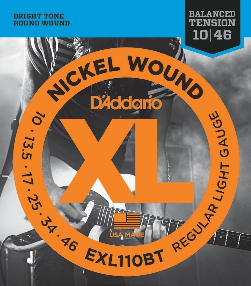 DAddario DAddario EXL110BT Nickel Wound, Balanced Tension Regular Light, 10-46 Electric Strings
