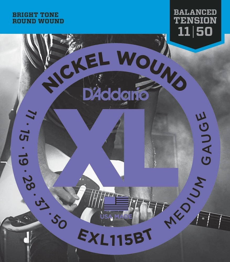 DAddario DAddario EXL115BT Nickel Wound, Balanced Tension Medium, 11-50 Electric Strings