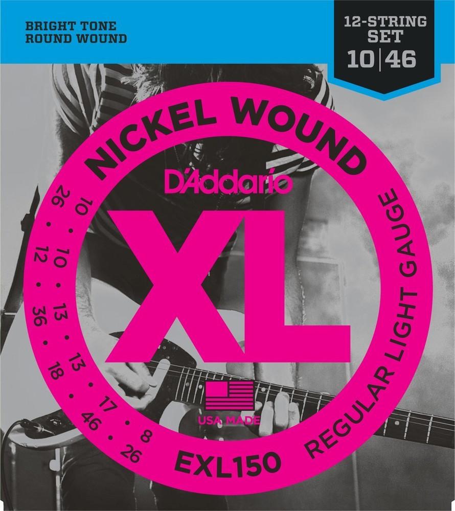 DAddario Daddario EXL150 Nickel Wound, 12-String, Regular Light, 10-46 Electric Strings