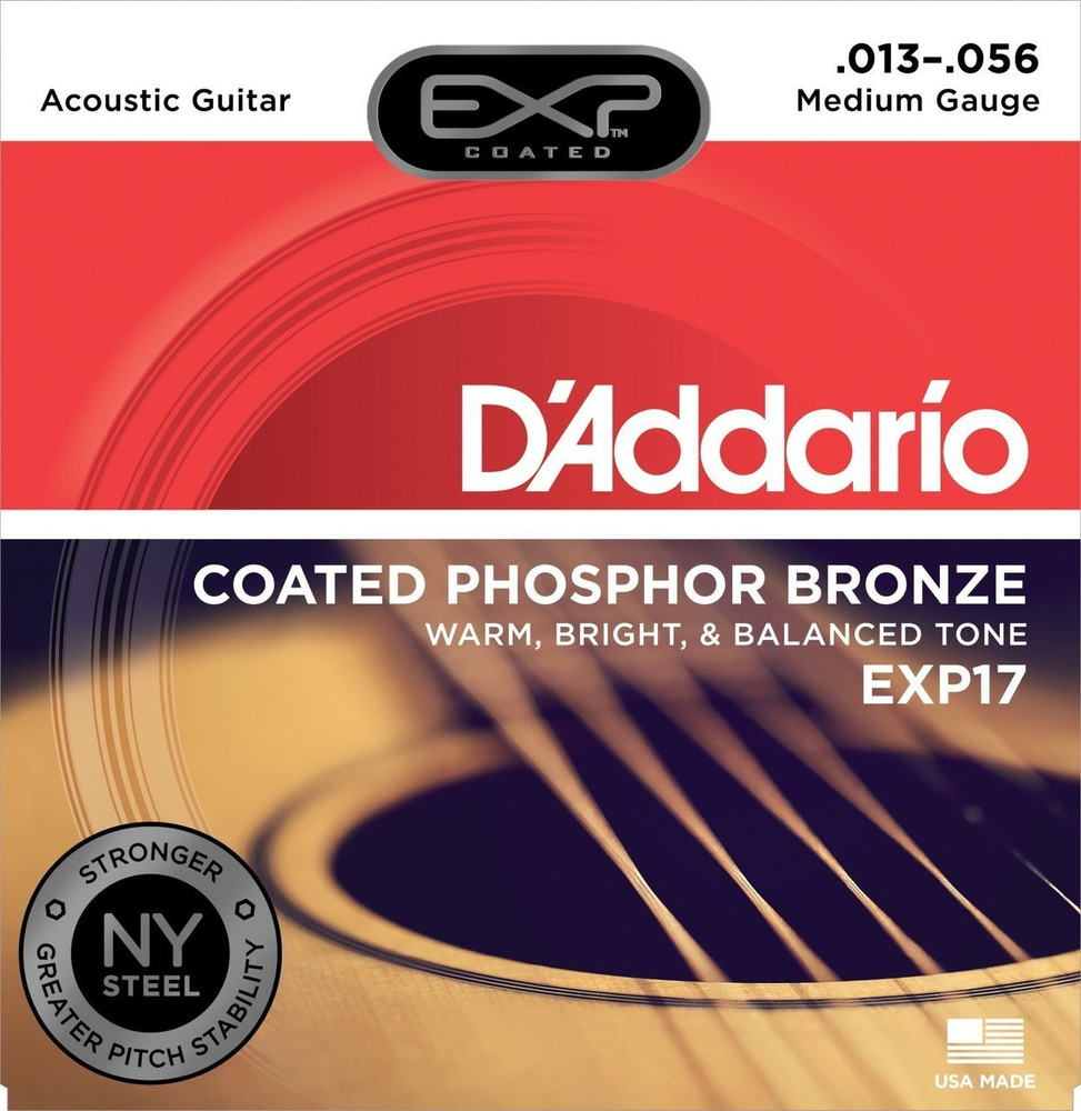 DAddario Daddario EXP17 Coated Phosphor, Medium, 13-56 Acoustic Strings
