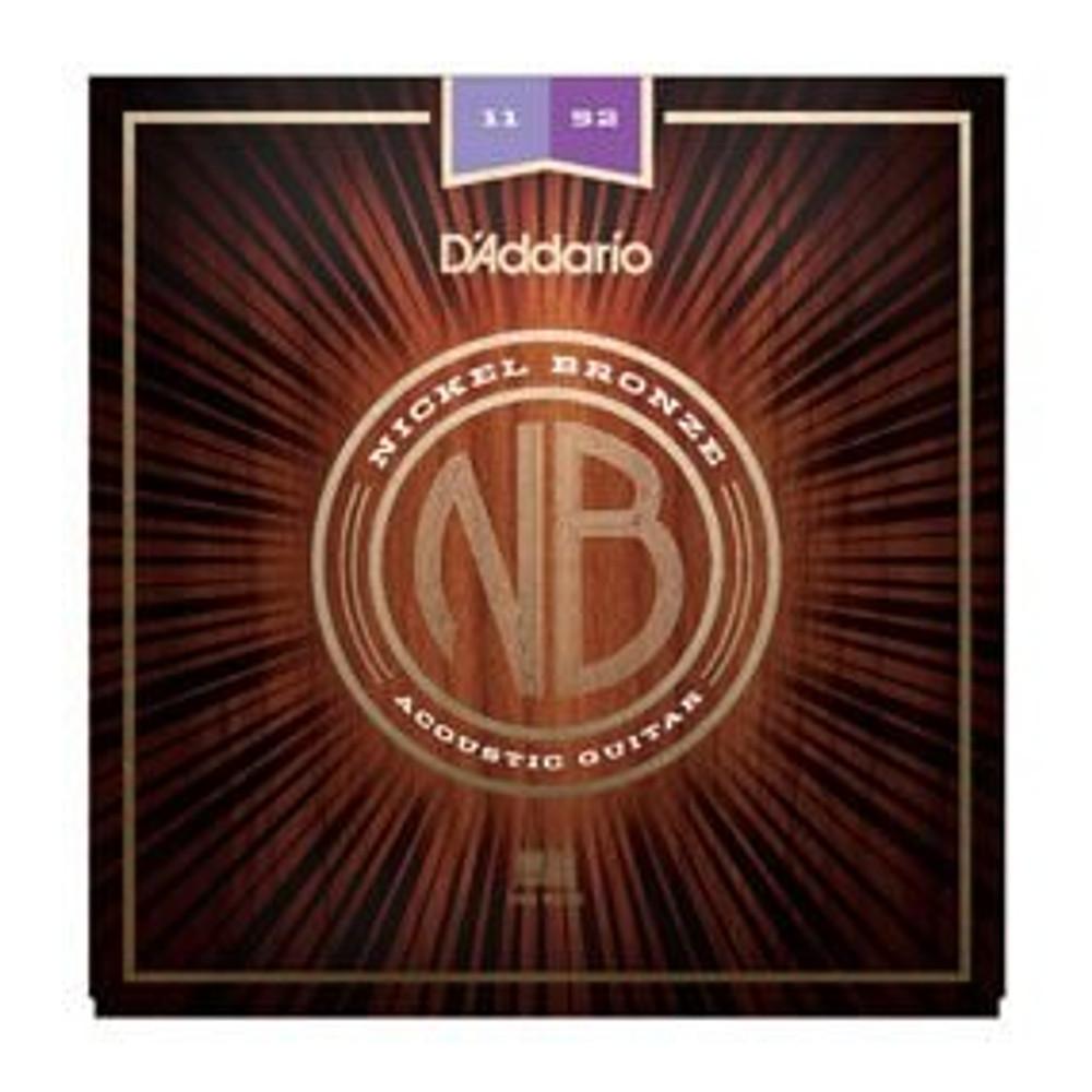 DAddario Daddario NB1152 Nickel Bronze Acoustic Guitar Strings, Custom Light, 11-52