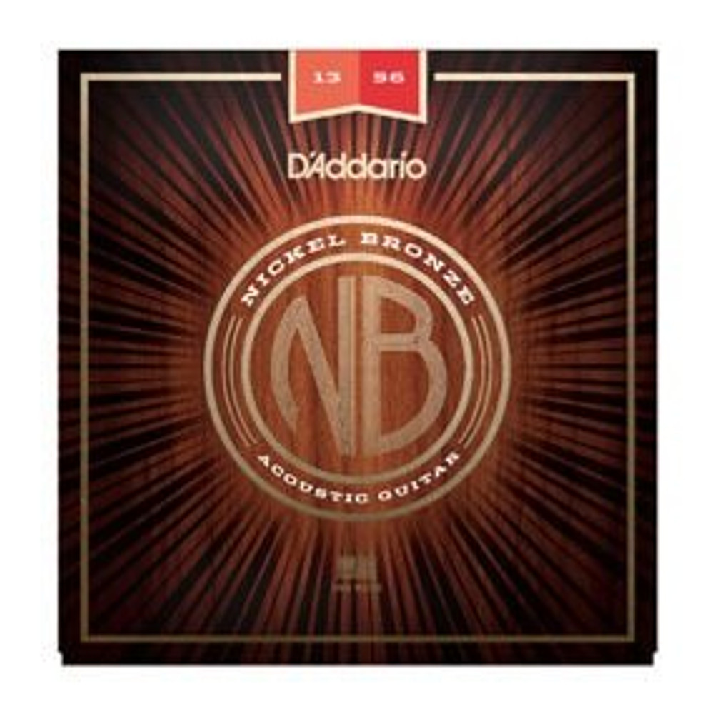 DAddario Daddario NB1356 Nickel Bronze Acoustic Guitar Strings, Medium, 13-56