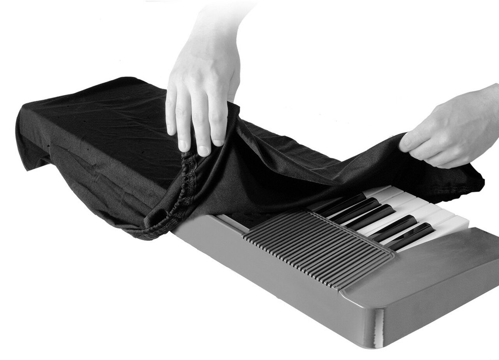 On-Stage On-Stage 61-76-Key Keyboard Dust Cover, Black