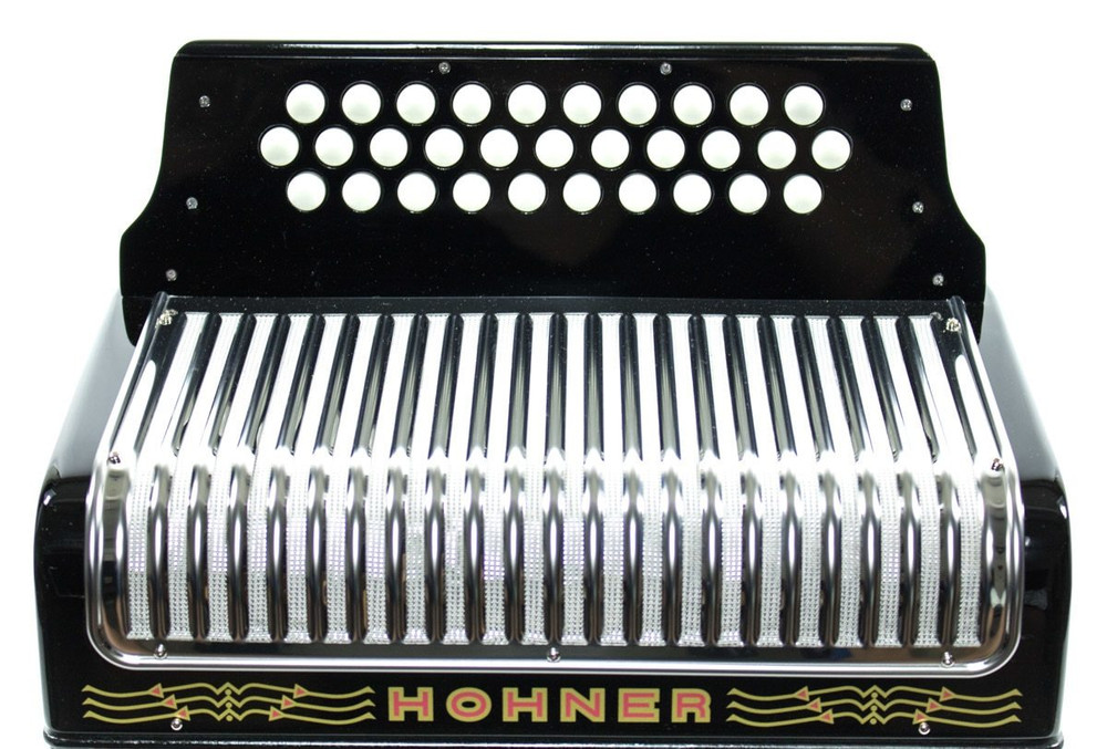 Hohner Hohner Corona II Classic FBbEb Accordion Black