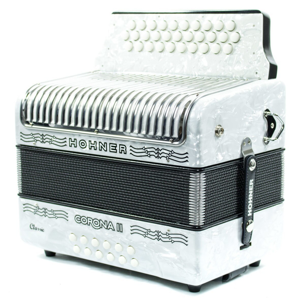 Hohner Hohner Corona II Classic FBbEb Accordion White