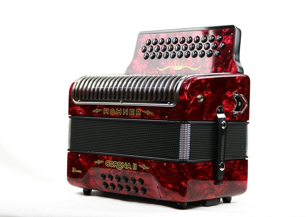 Hohner Hohner Corona II Xtreme GCF Accordion Red