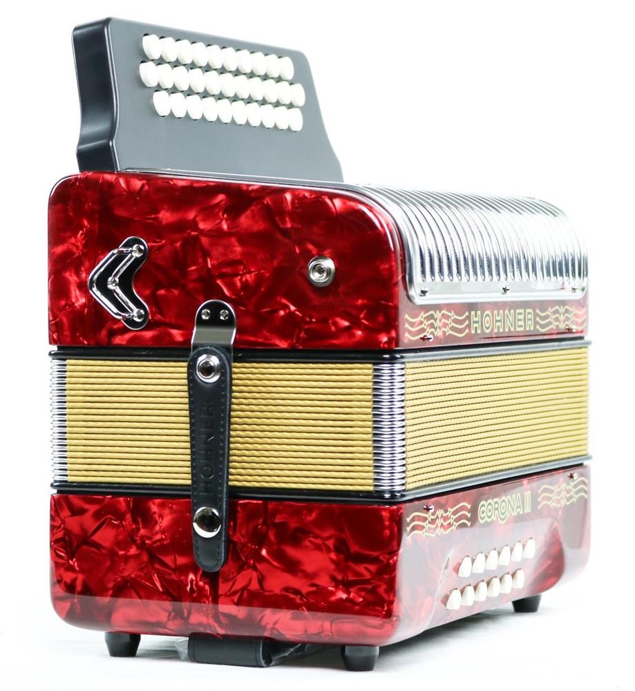 Hohner Hohner Corona II GCF Accordion Red