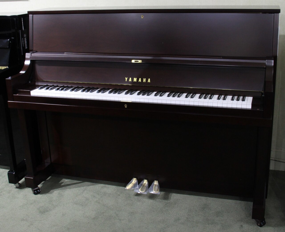 Yamaha Used Yamaha P22M 45 Upright Piano - Satin Walnut with Bench