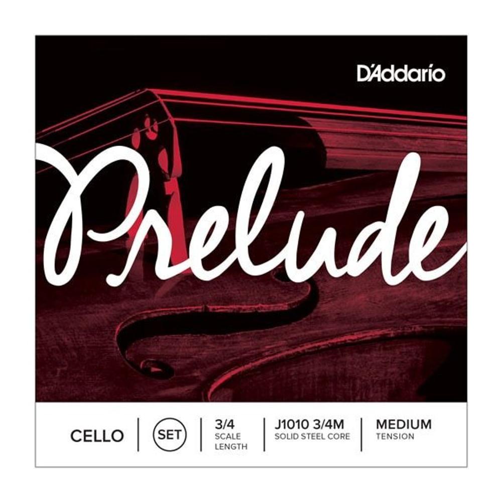 DAddario Prelude Cello String Set, 3/4 Scale, Medium Tension