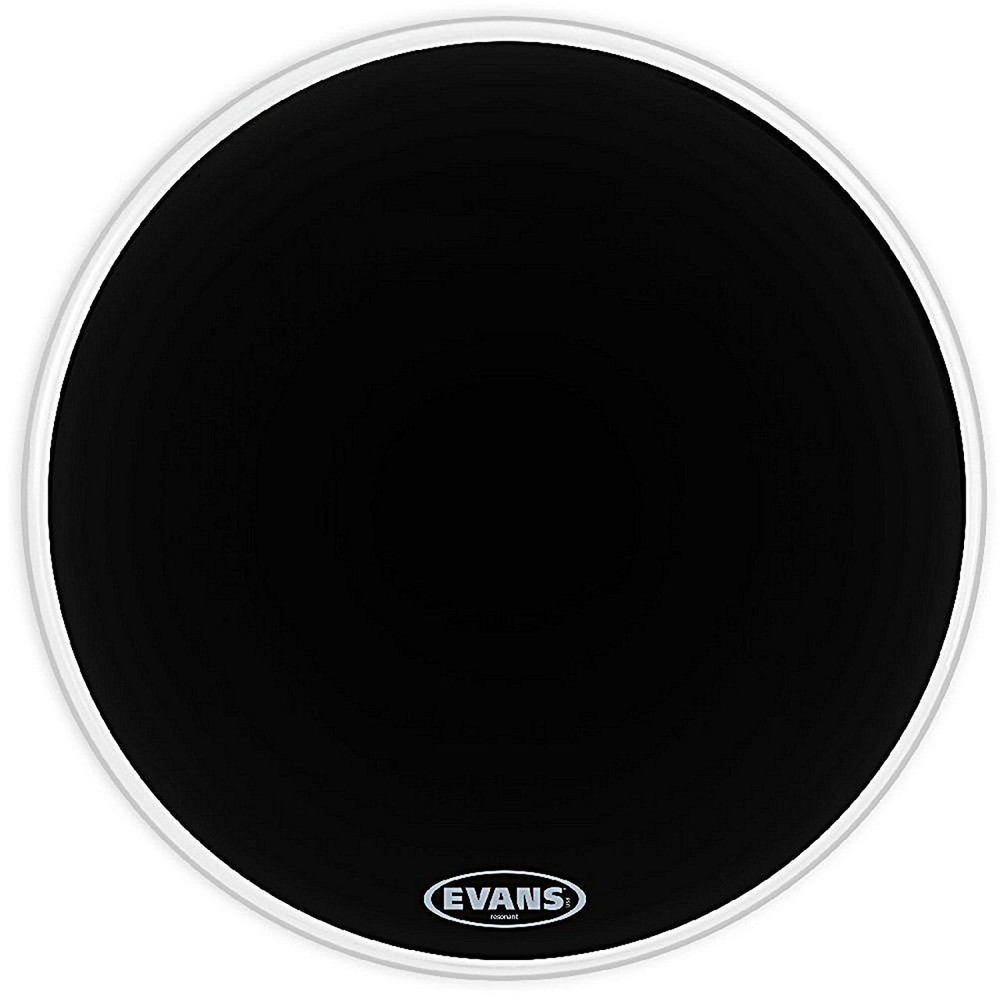 DAddario Evans Resonant Black Bass Drum Head, 22 Inch
