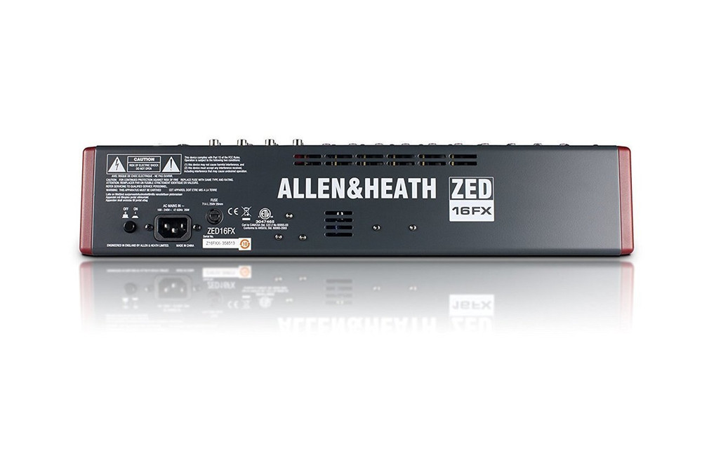 Allen and Heath Allen and Heath ZED-16FX 16-Channel Multi-Purpose USB Mixer with FX for Live Sound and Recording