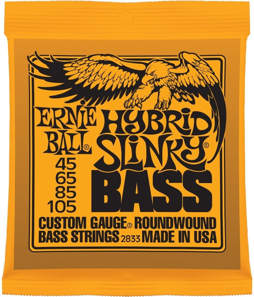 Ernie Ball Ernie Ball Hybrid Slinky Nickel Wound Electric Bass Strings - 45-105 Gauge