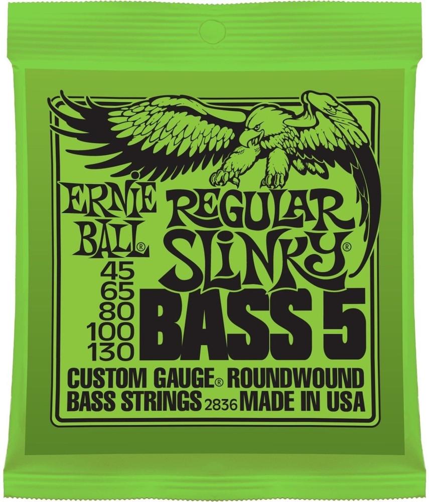 Ernie Ball Ernie Ball Regular Slinky 5-String Nickel Wound Electric Bass Strings - 45-130 Gauge