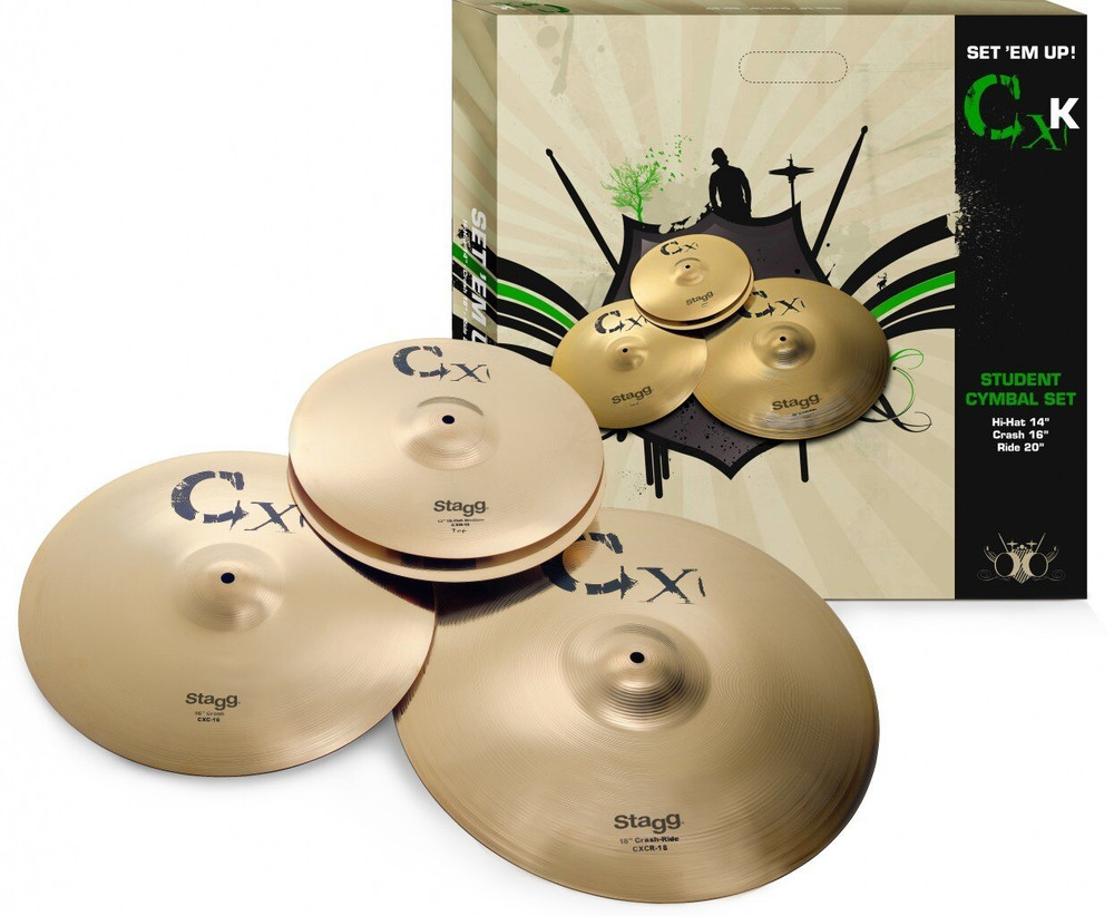 Stagg Stagg CXK-SET Brass Standard Cymbal Set