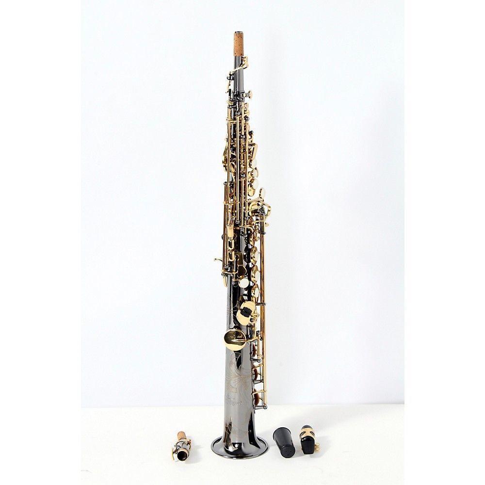 Antigua Winds Antigua Winds SS4290 Power Bell Series Professional Bb Soprano Saxophone - Black Nickel