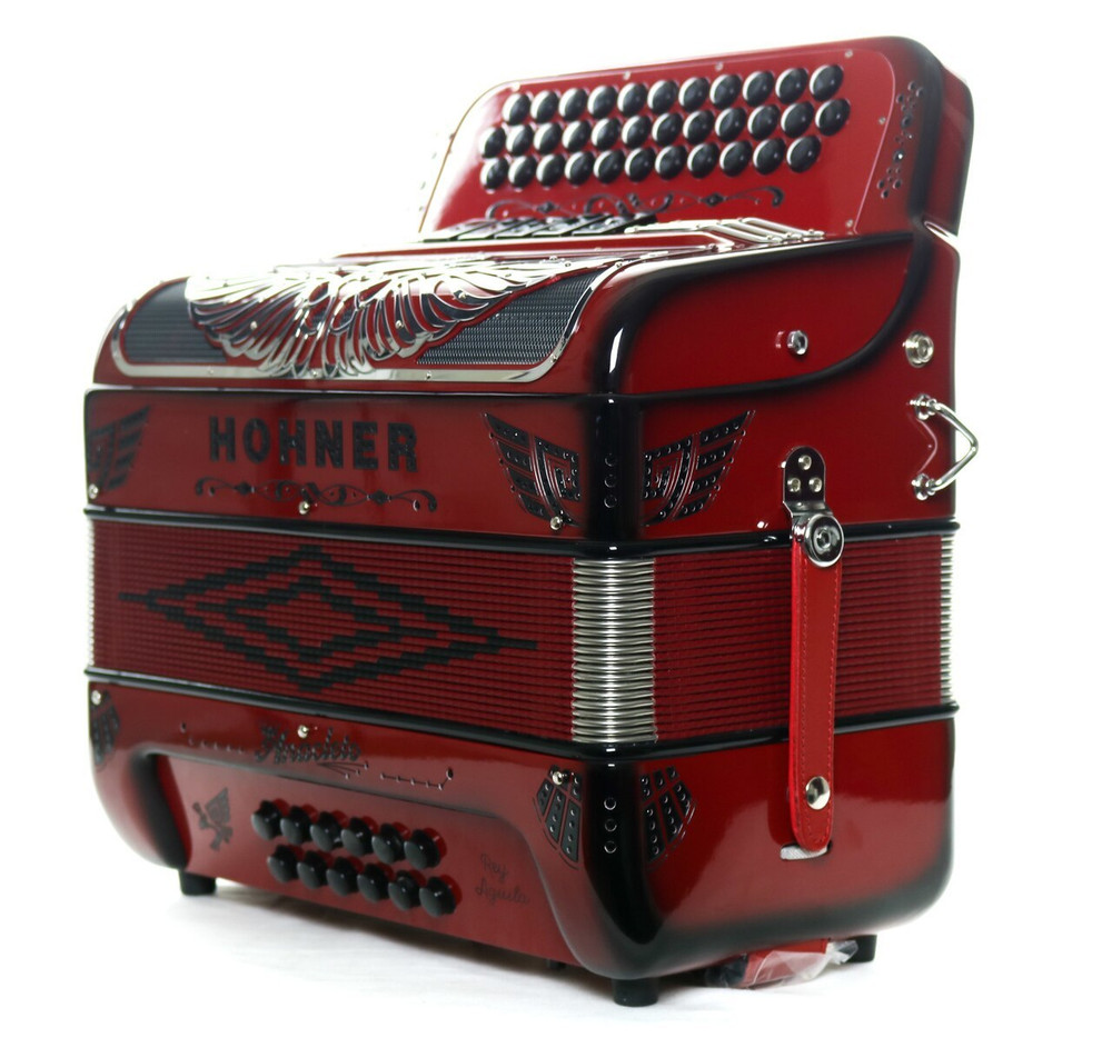 Hohner Hohner Anacleto Rey Aguila 5S Accordion Ruby Red