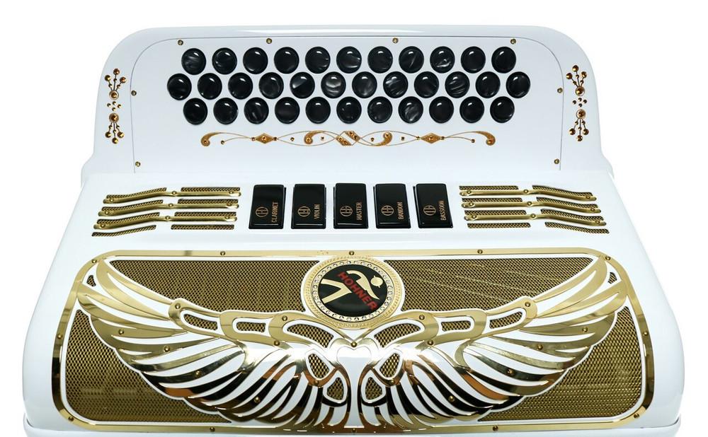 Hohner Hohner Anacleto Rey Aguila GCF Accordion White