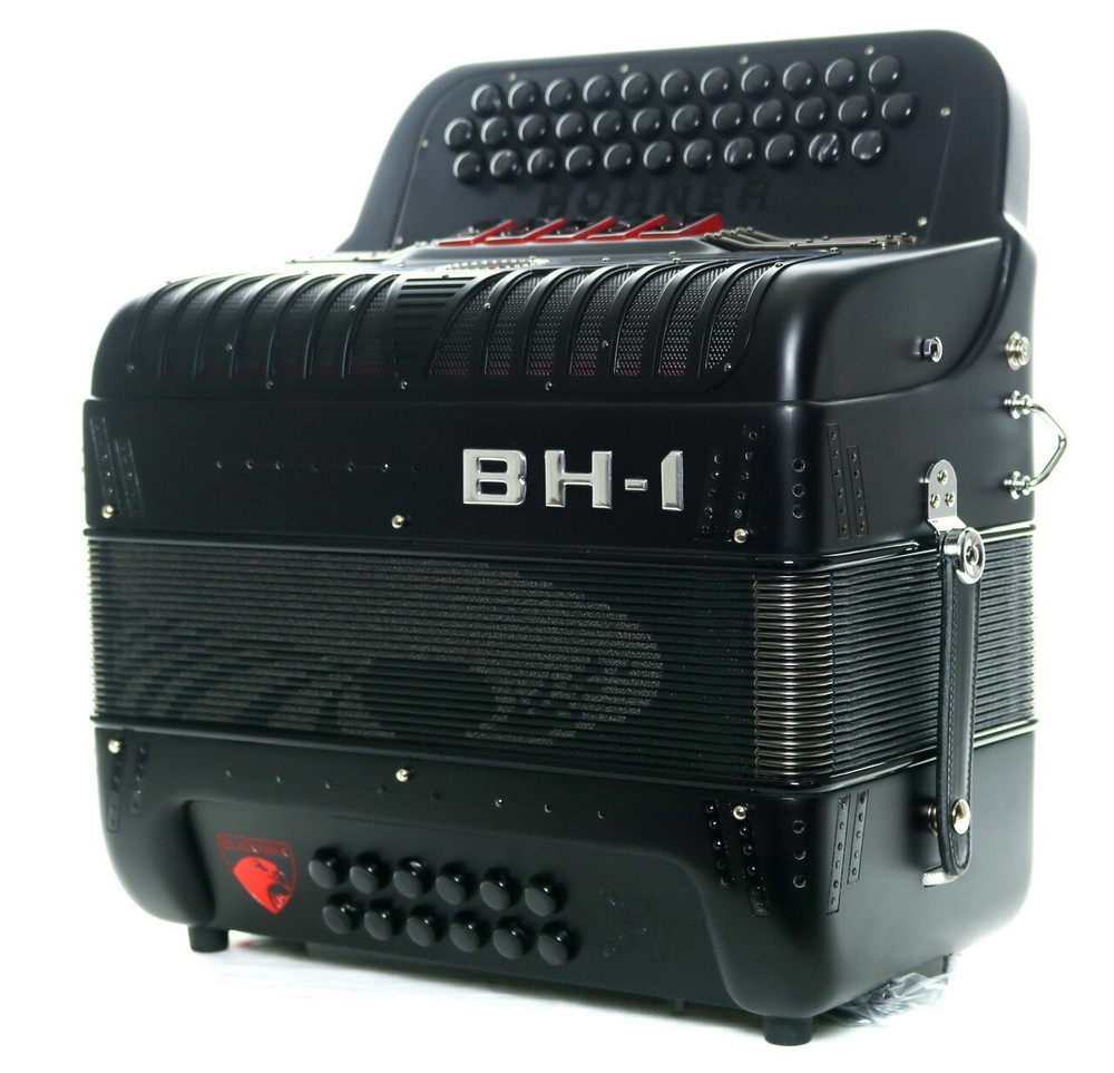 Hohner Hohner Anacleto BH-1 Black Hawk 5-Switch EAD Compact Accordion Black