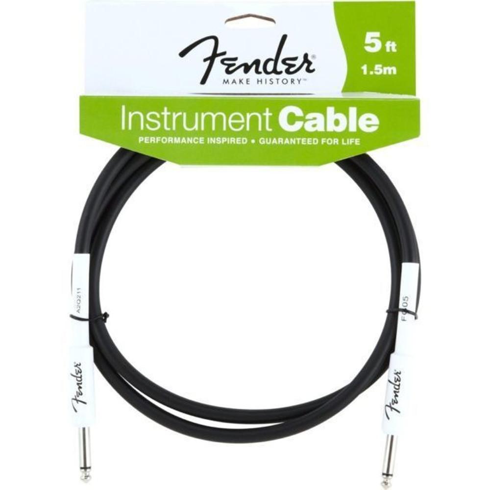 Fender Fender 5 Black Instrument Cable