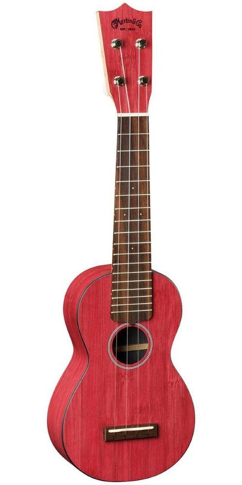 Martin DEMO Martin OX Bamboo Soprano Uke Red