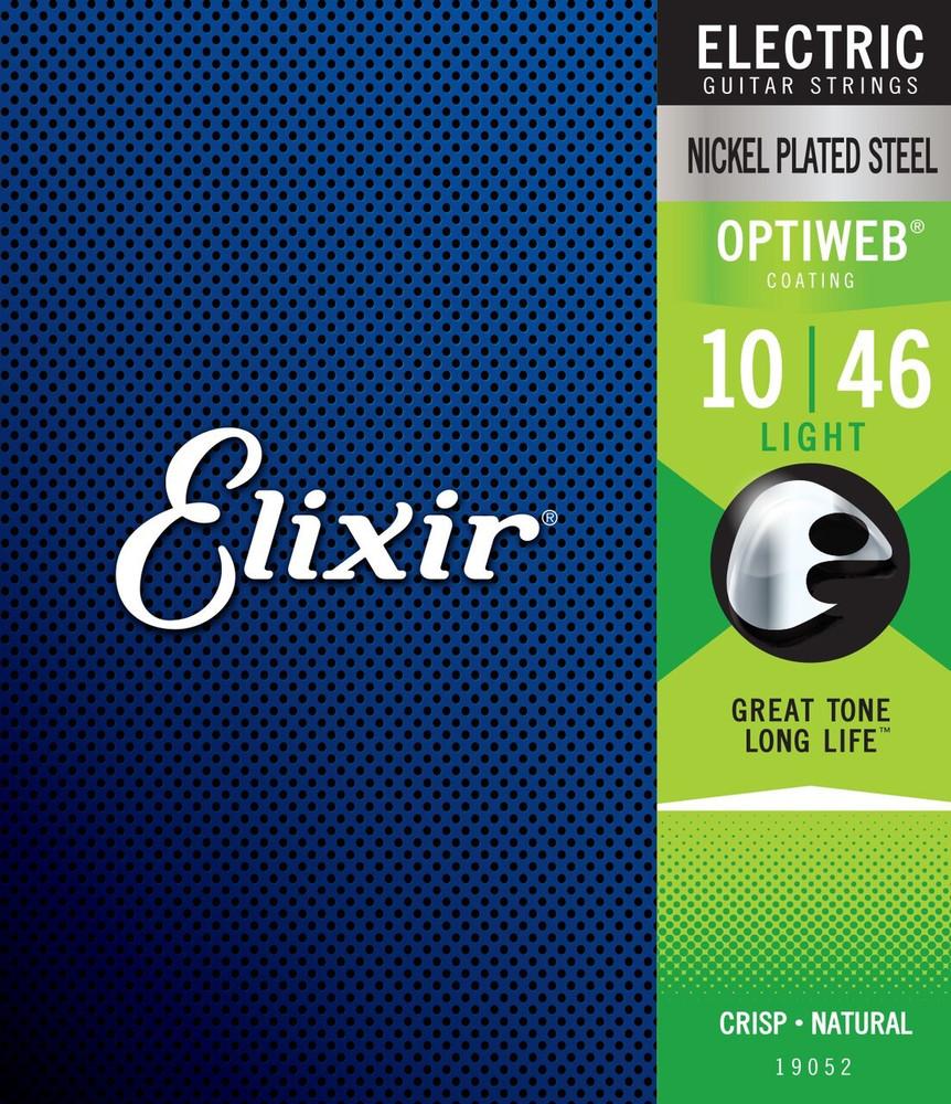 Elixir Elixir Electric Nickel Plated Steel Strings with OPTIWEB Coating 10-46