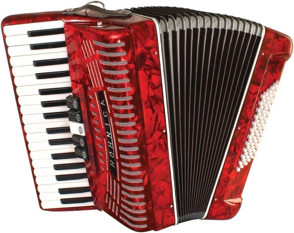 Hohner Hohner Hohnica 72 Bass Piano Accordion - RED