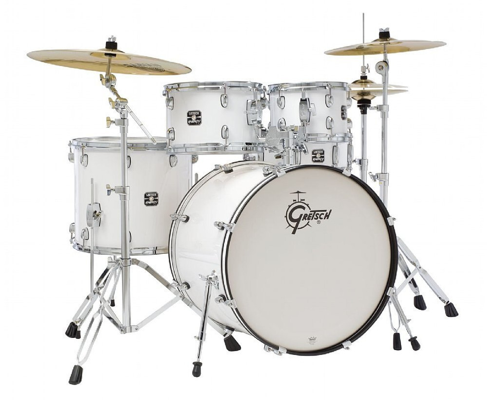 Gretsch Gretsch Energy 5pc Kit w/ Hardware and Cymbals White