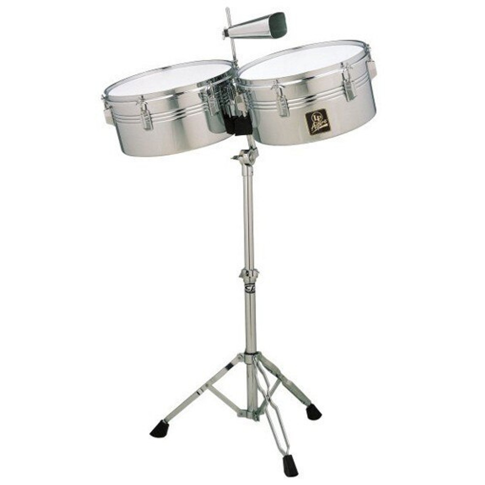 Latin Percussion Latin Percussion LPA256 Aspire Series 13 and 14 Timbale Set with Cowbell