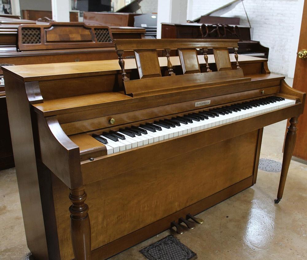 Baldwin Baldwin Spinet Upright Piano - Dark Oak