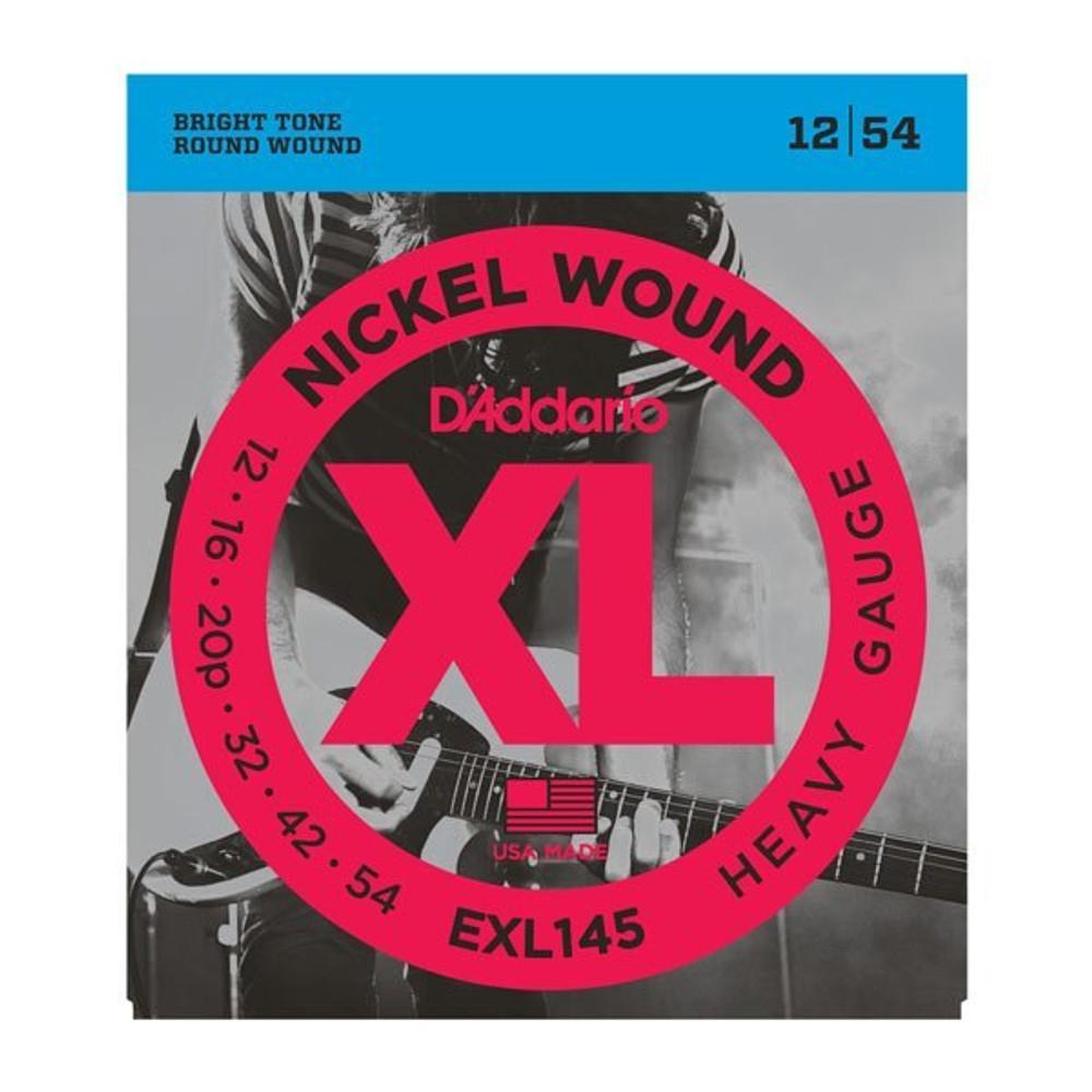 DAddario Daddario EXL145 Nickel Wound Heavy Plain 3rd, 12-54 Electric Strings