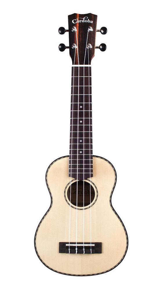 Cordoba Cordoba 21S Soprano Ukulele - Spruce/Striped Ebony