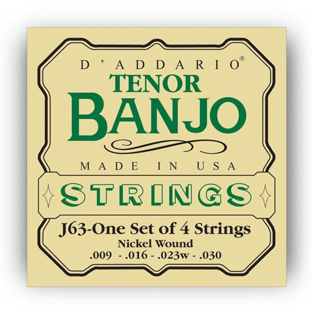 DAddario Daddario J63 Tenor Banjo Nickel Strings 9-30