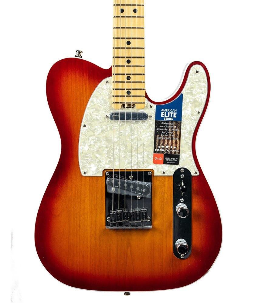 Fender B-Stock Fender American Elite Telecaster - Aged Cherry Burst, Serial US15062582