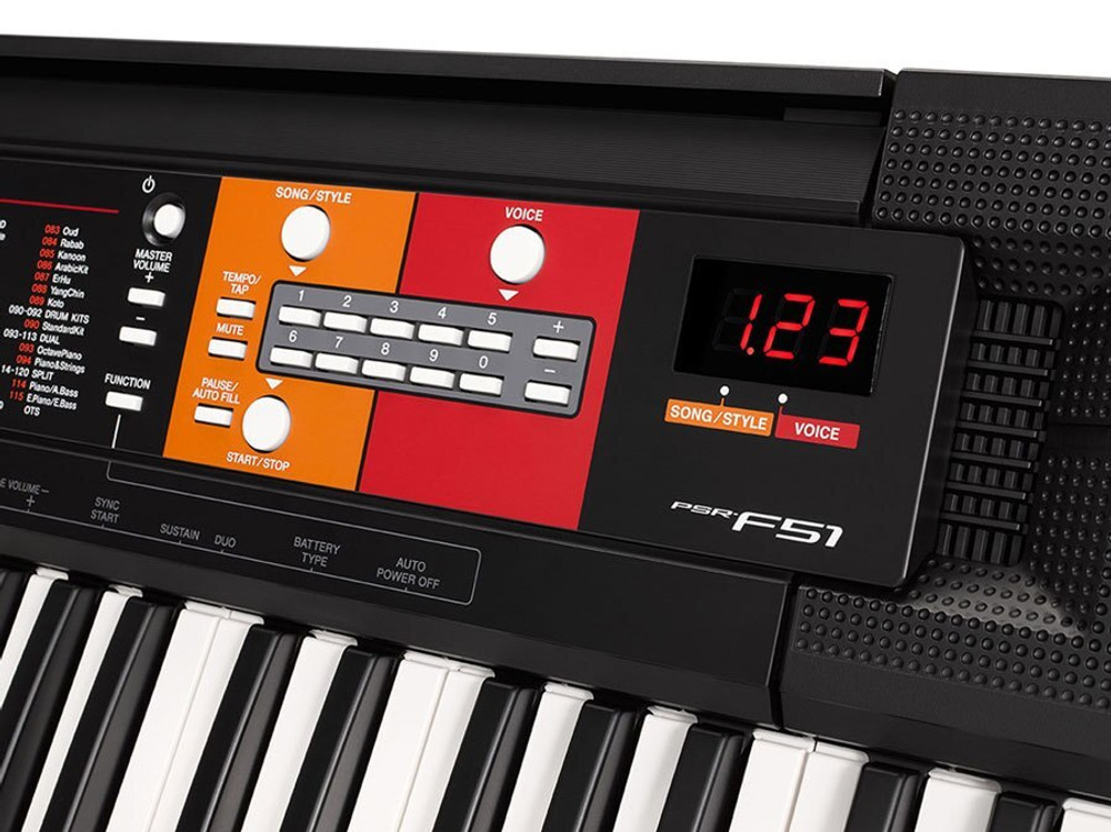 Yamaha DEMO Yamaha PSR-F51 61-Key Portable Keyboard with Survival Kit