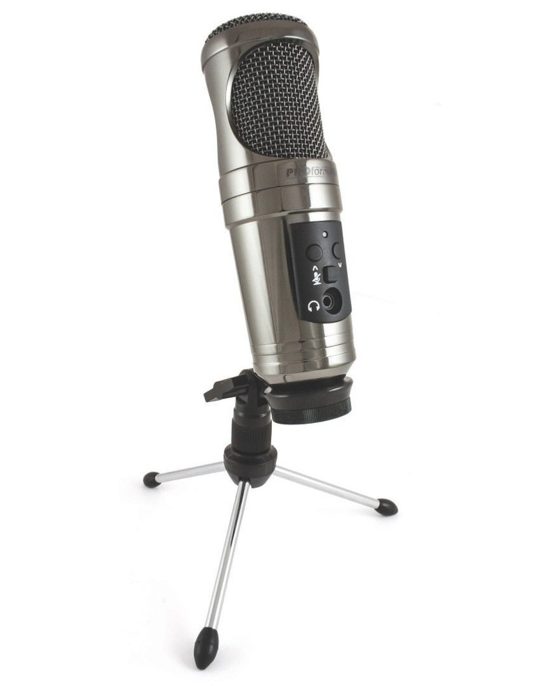 PROformance DEMO ProFormance P755USB Studio Condenser Microphone, Black Mirror Chrome MINT