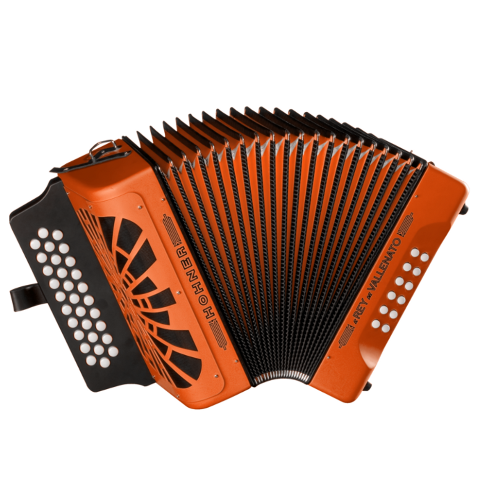 Hohner El Rey Del Vallenato ADG Accordion Orange