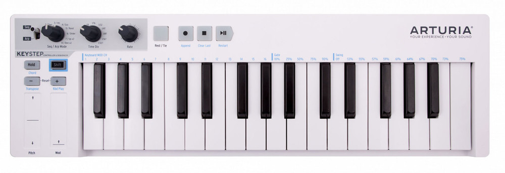 Arturia Arturia KeyStep Portable Mini Keyboard with Sequencer