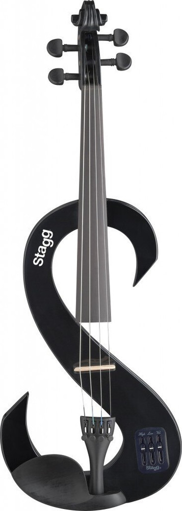 Stagg Stagg Black Electric 4/4 Violin Outfit with Case