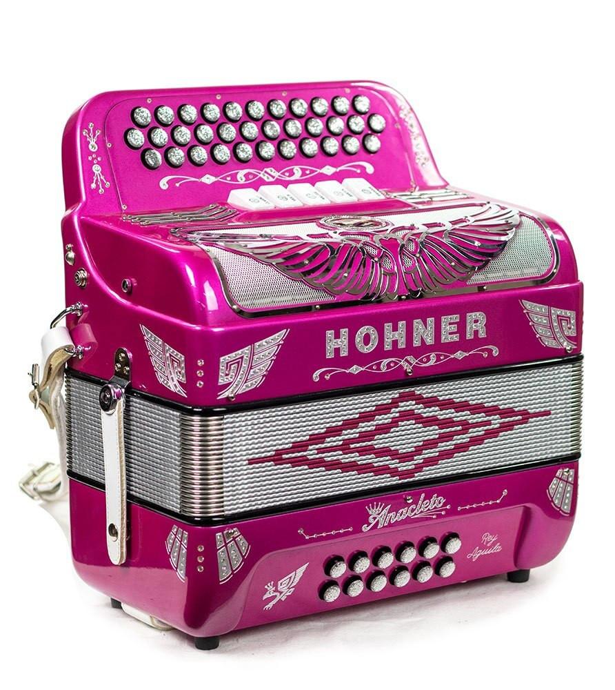 Hohner Hohner Anacleto Rey Aguila III GCF 5 Switch Compact - Purple Metallic
