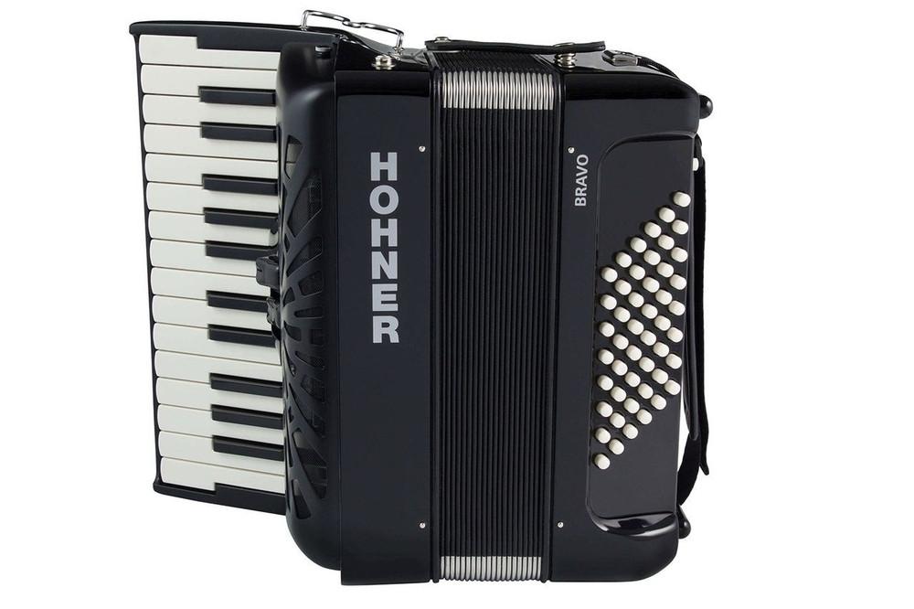 Hohner Bravo II 48 Black Piano Accordion